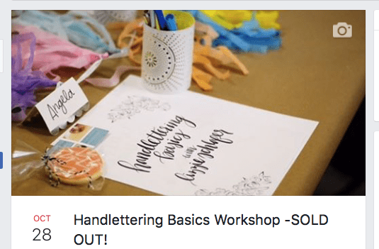 Handlettering Basics Facebook Event Cover