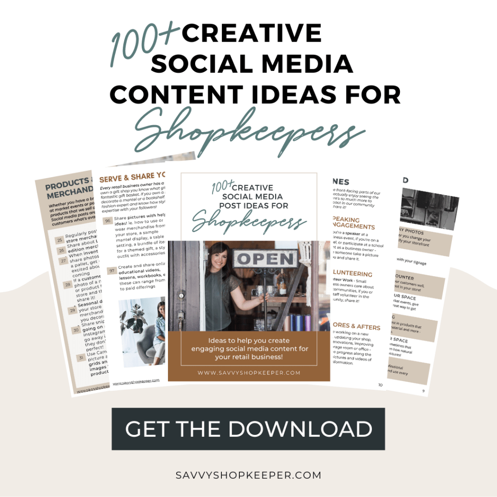 NEW & UPDATED: 100+ Social Media Posting Ideas for Shop Owners