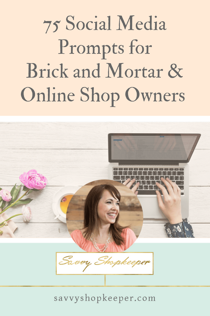 75 Social Media Posting Ideas for Shop Owners - Pinterest
