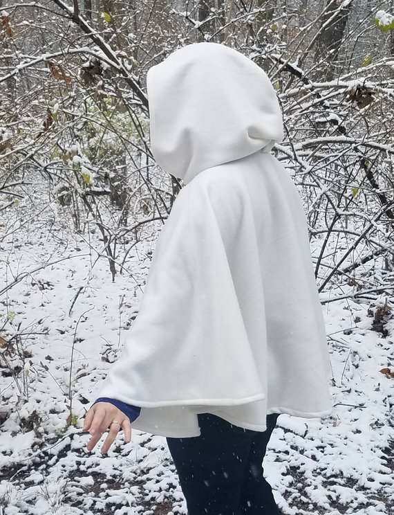 Wyrd Armouries White Fleece Capelet
