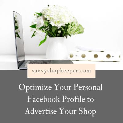Optimize Facebook Profile ShopOwners