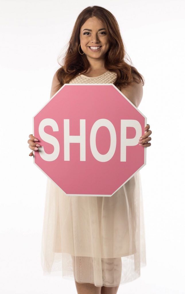 Boutique Decor & More Shop Sign in Pink