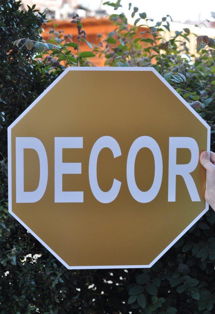 Boutique Decor & More Custom Gold Sign
