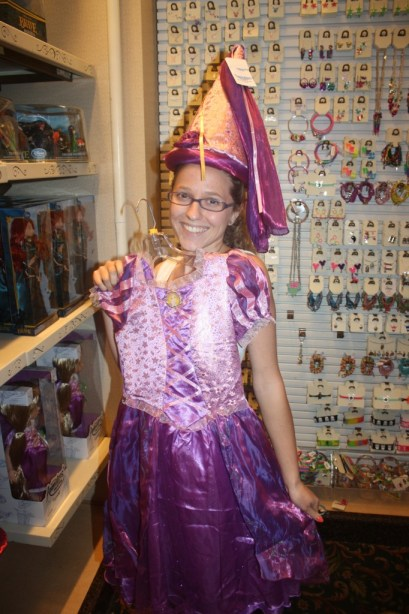 I will never grow up... especially when I can still fit princess outfits!