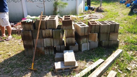 Got the cinder blocks for free!