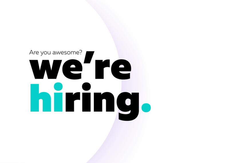 We're hiring graphic
