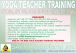 Yoga Teacher Training London ON