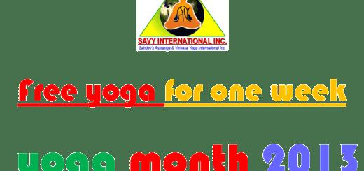 Yoga Month 2013