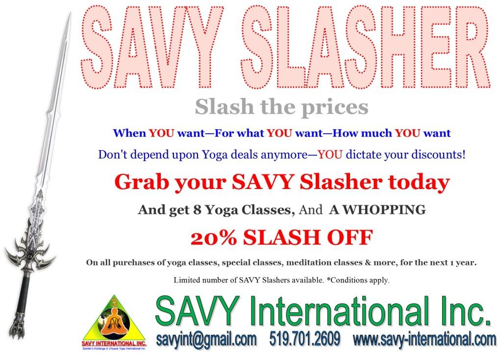 SAVY Slasher Offer