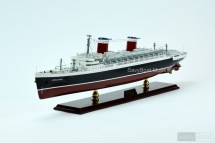 Ss United States Ocean Liner Wooden Ship Model