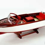 Chris Craft Sea Skiff Handcrafted Wooden Model Boat