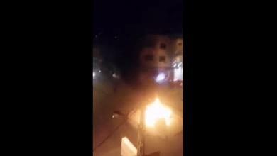 Photo of بالفيديو .. احتراق سيارة على دوار في جرش