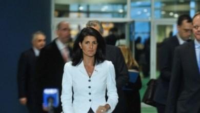 "Photo of مندوبة واشنطن … "" بالكندرة "" سنضرب كل من يعادي إسرائيل / فيديو"
