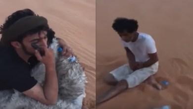 Photo of شابان سعوديان ينقذان رجلا من الموت في الربع الخالي (فيديو)