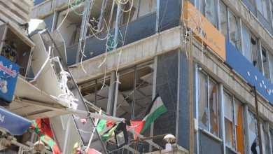 Photo of تدعيم مؤقت لمبنى موقع إنفجار مطعم وسط البلد