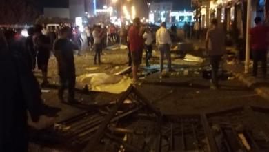 Photo of انفجار داخل مطعم في شارع المدينة .. فيديو وصور