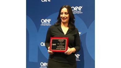 Photo of ديانا عثامنة تفوز بجائزة (مبتكر الطاقة) للعام 2019