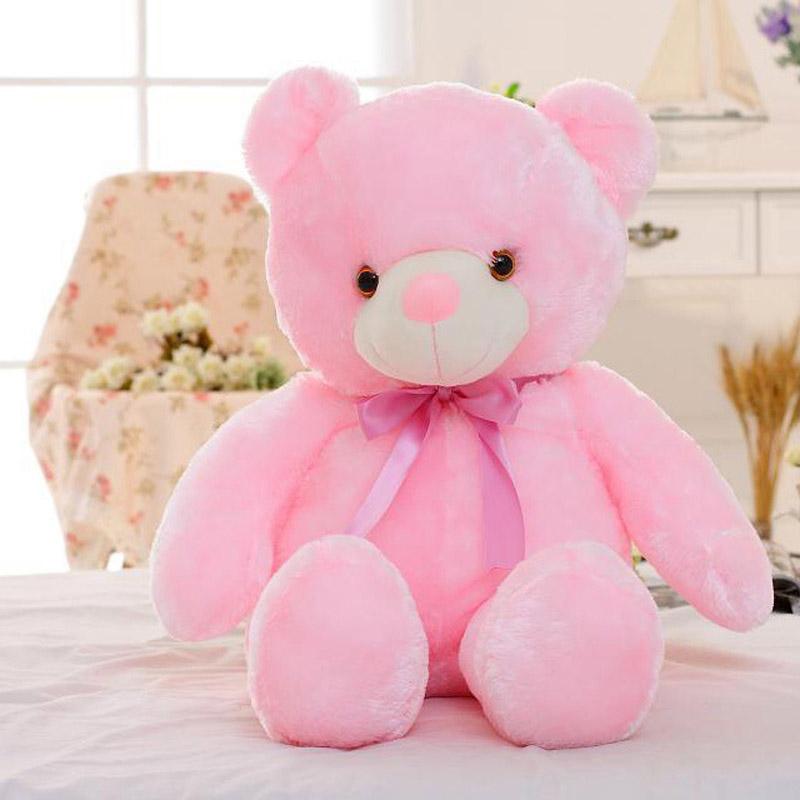 colorful teddy bear plush