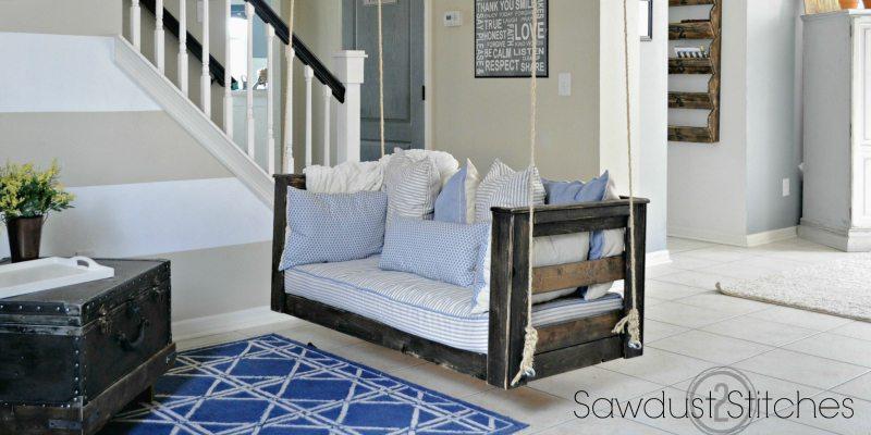 Crib Mattress Porch Swing  Sawdust 2 Stitches