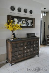Ikea Cubbies into a Rustic Apothecary - Sawdust 2 Stitches