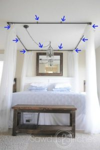 PVC Bed Canopy - Sawdust 2 Stitches