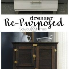 Kitchen Island Home Depot Best Countertops For Kitchens Dresser Re-purposed Into Antique Ice Box - Sawdust 2 Stitches