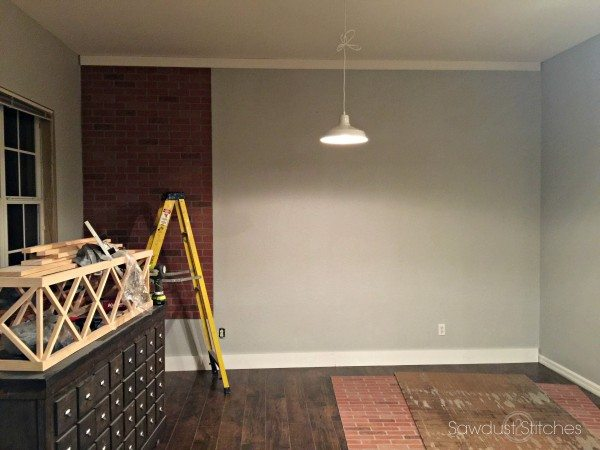 How To Faux Brick Wall Sawdust 2 Stitches