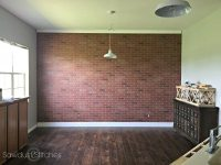How to: Faux Brick Wall - Sawdust 2 Stitches