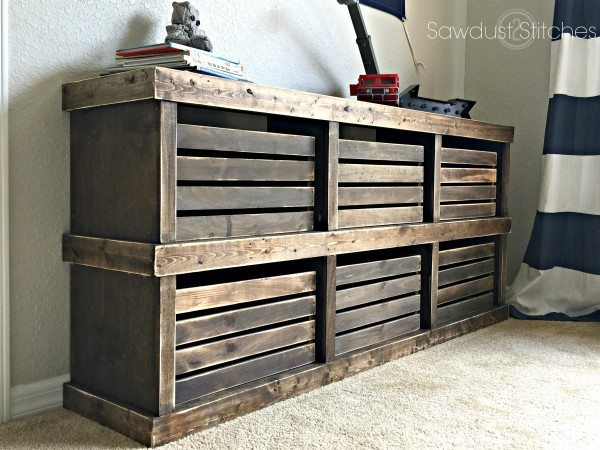 Pottery Barn Inspired Crate Dresser  Sawdust 2 Stitches
