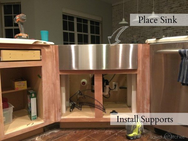 moen kitchen soap dispenser contractor apron sink install and remodel reveal - sawdust 2 ...