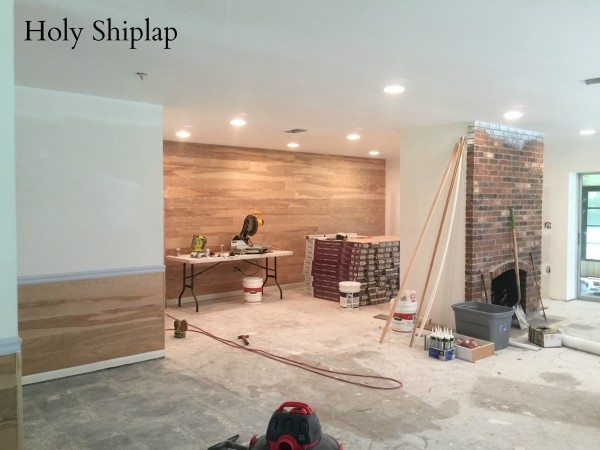 Covering Wallpaper with Faux Shiplap  Sawdust 2 Stitches