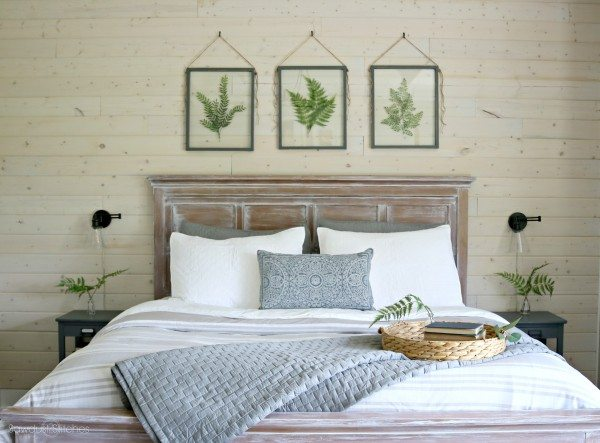 master bedroom makeover with shiplap