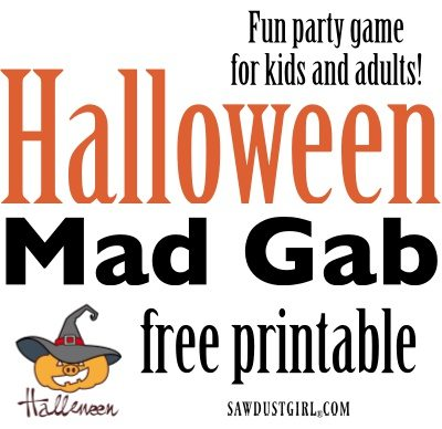 image about Printable Mad Gab Cards identify Halloween Crazy Gab - Halloween Social gathering Suggestions - Sawdust Girl®