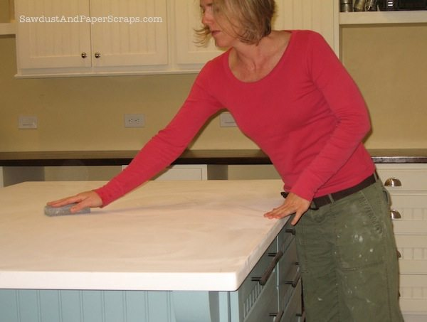 Painted MDF countertop 2