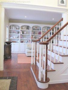 library built-in bookshelves