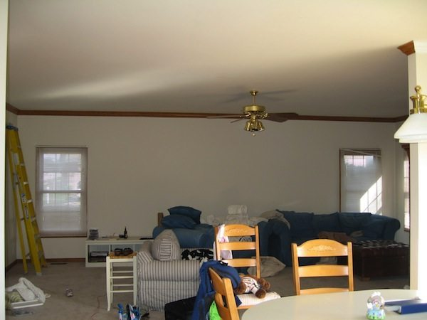 Ilinois Living room Before