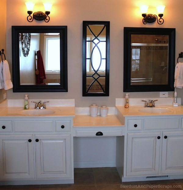 Master Bathroom with double vanity and makeup counter