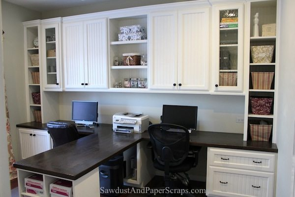 Home Office With Built In Work Stations Sawdust Girl 174