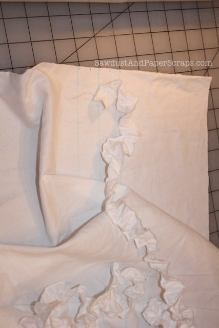Sewing ruffles onto fabric