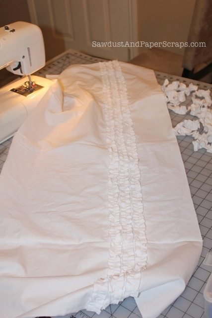 How to sew a ruffled bag