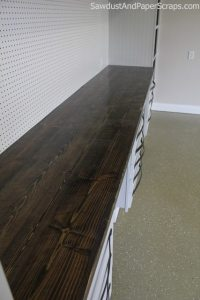 build inexpensive distressed wood countertops