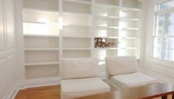 Library Built Ins And Wainscoting