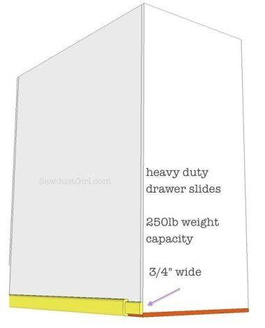 Installing drawer part of slide