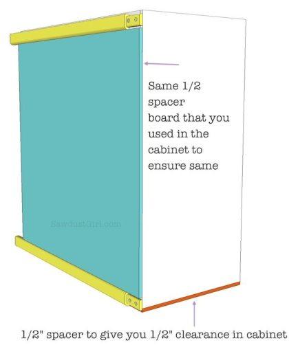Build a sliding pantry storage