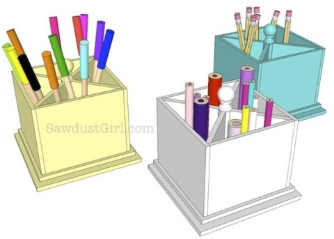 how to make a lazy susan art caddy