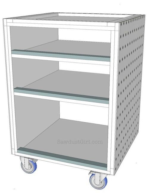 Rolling Utility Cart - free plans
