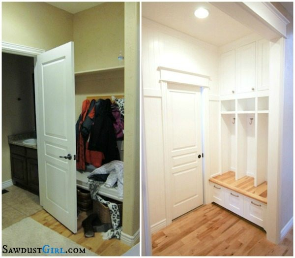So Much More Functional With The Addition Of The Pocket Door. Never Mind  The Amazing Mudroom Built Ins!