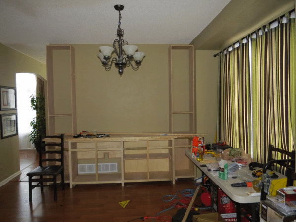 dining room buffet Built-in option 1