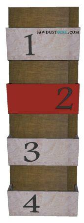 wood letter bin tutorial