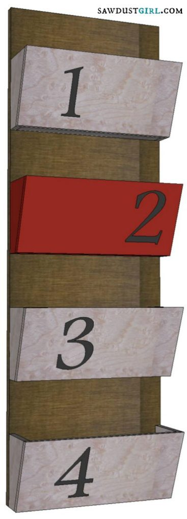 Free woodworking plans for a Letter Bin or Magazine Rack